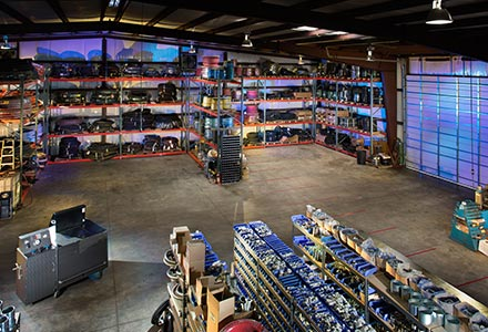 Texas Rubber Group offers a large enclosed servicing area for refurbishing your equipment in all kinds of weather